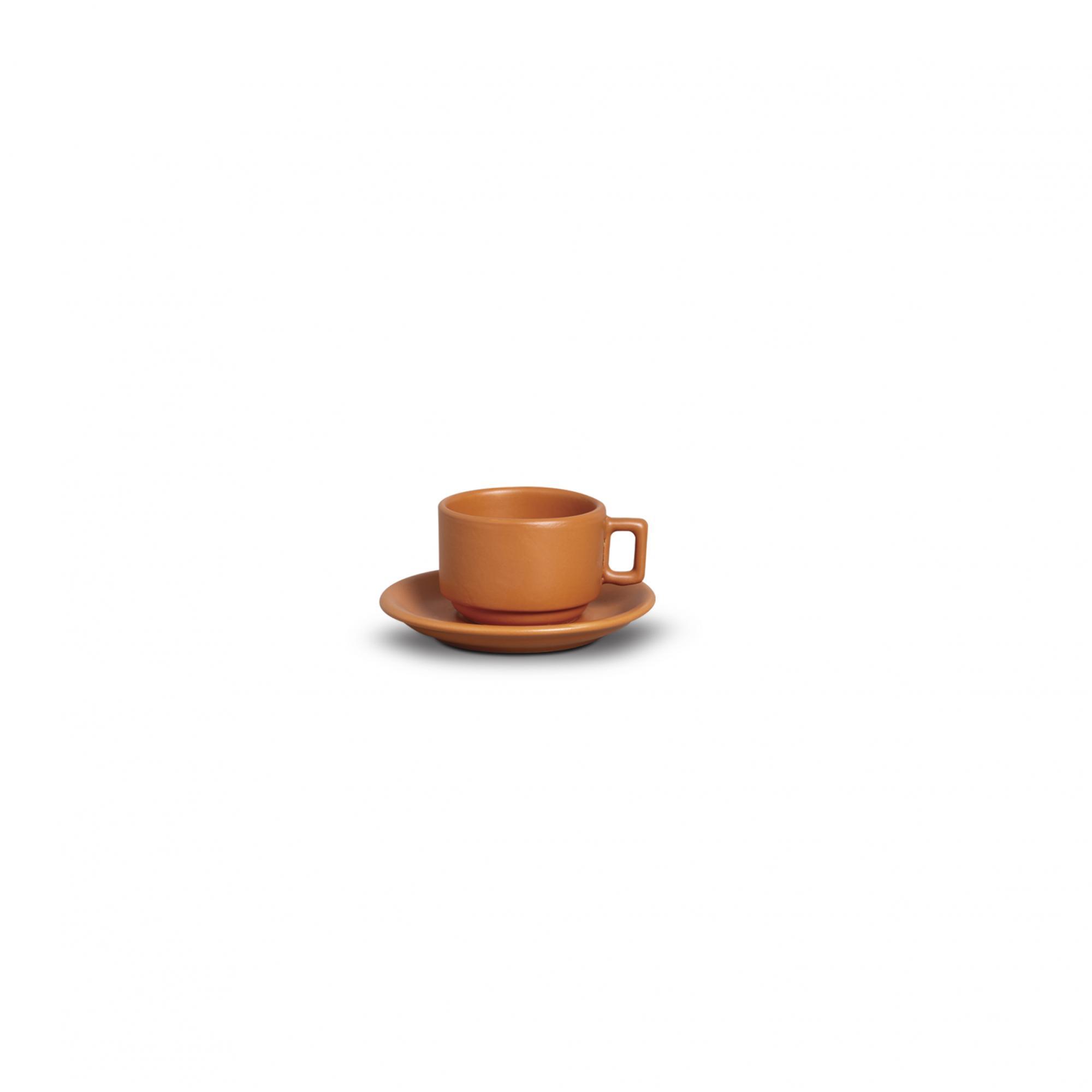 XICARA CAFÉ C/ PIRES  100ml - TIJOLO FOSCO