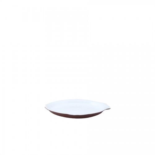 ASSADEIRA PEIXE  20,5 x 31cm - MARROM FOSCO/BRANCO BRILHANTE