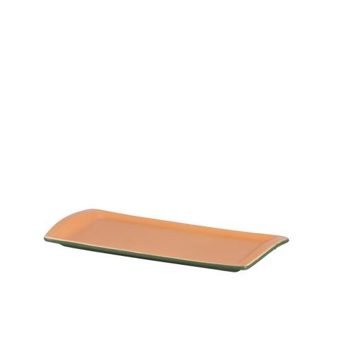 TRAVESSA RET. RASA G  32,5 x 13,5 cm - VERDE/TIJOLO - FOSCO